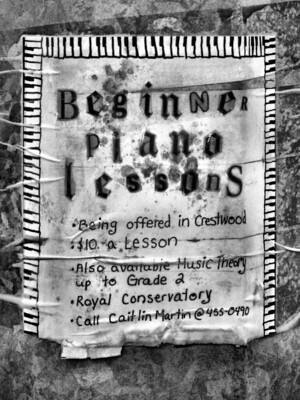 old piano lessons poster